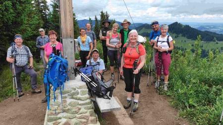 Bergwanderung des DAV auf den Wannenkopf in den Allgäuer Alpen bei schönem Bergwetter